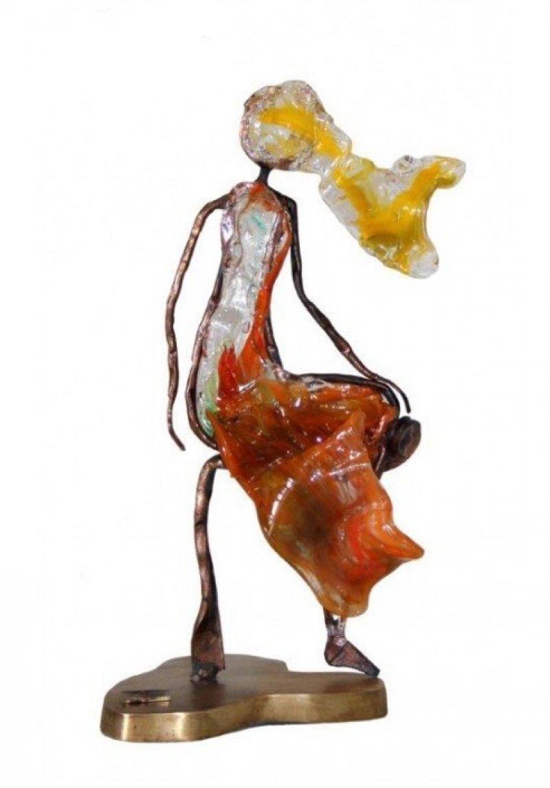 Dame in brons & glaspasta