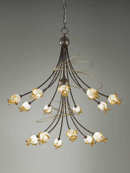 Huis Maison Bogaert Luster COMO - 15 lampen rond