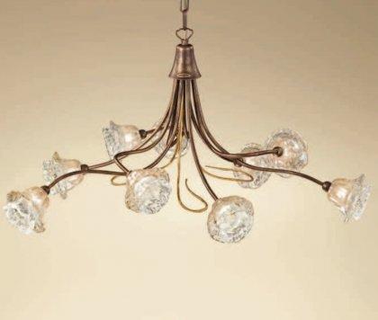 Huis Maison Bogaert Luster ROMA - 9  lampen  - rond