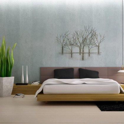 Metalen muurdecoratie -