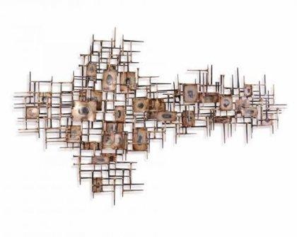 Huis Maison Bogaert Metalen muurdecoratie