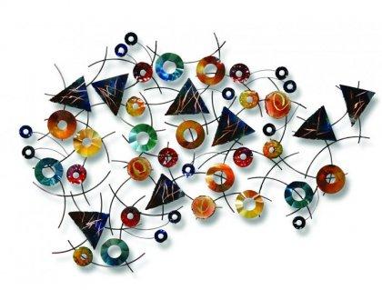 Huis Maison Bogaert Metalen muurdecoratie - Confetti