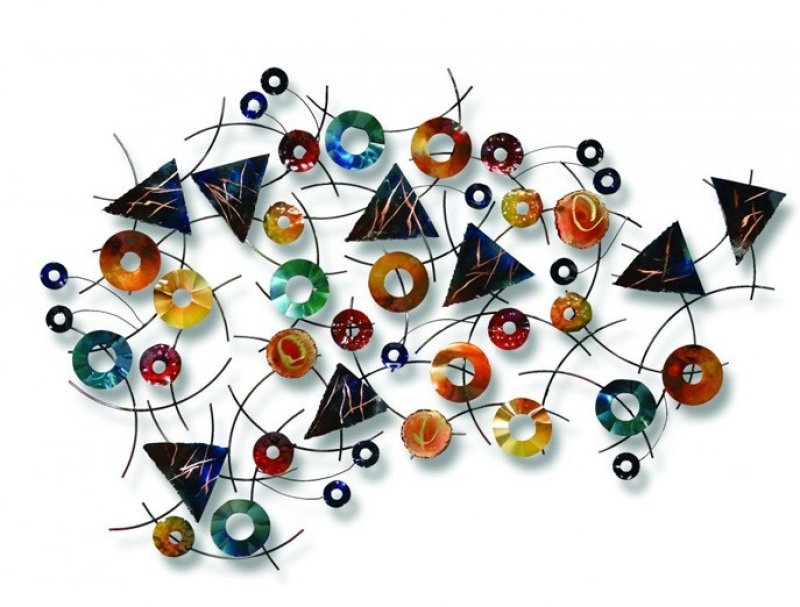 Metalen muurdecoratie - Confetti