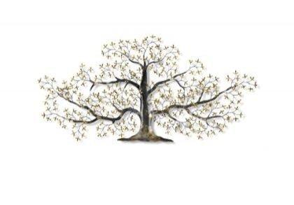 Huis Maison Bogaert Metalen muurdecroatie : Levensboom