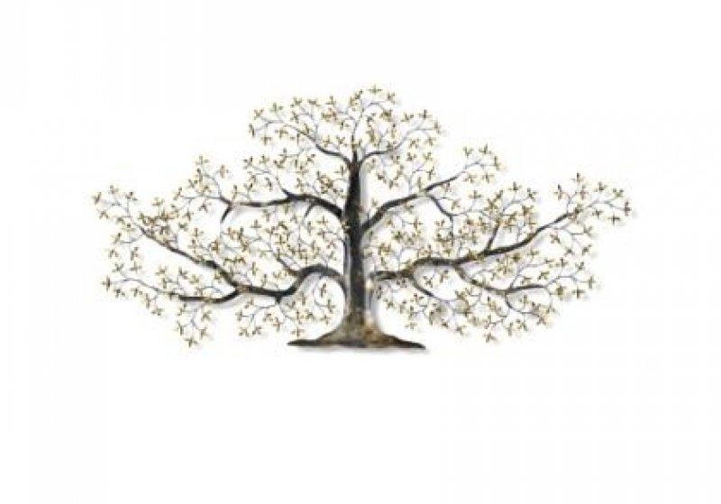 Metalen muurdecroatie : Levensboom