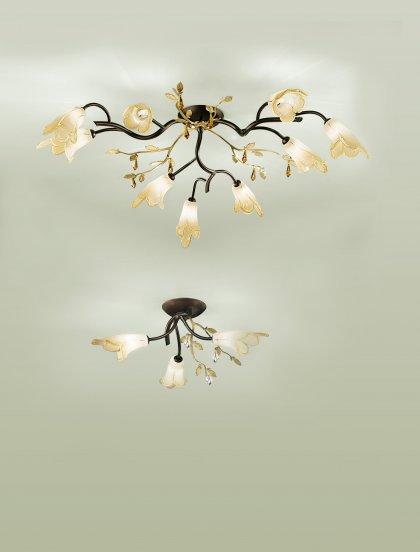 Huis Maison Bogaert Plafonnier CAPRI 6 lampen - rond