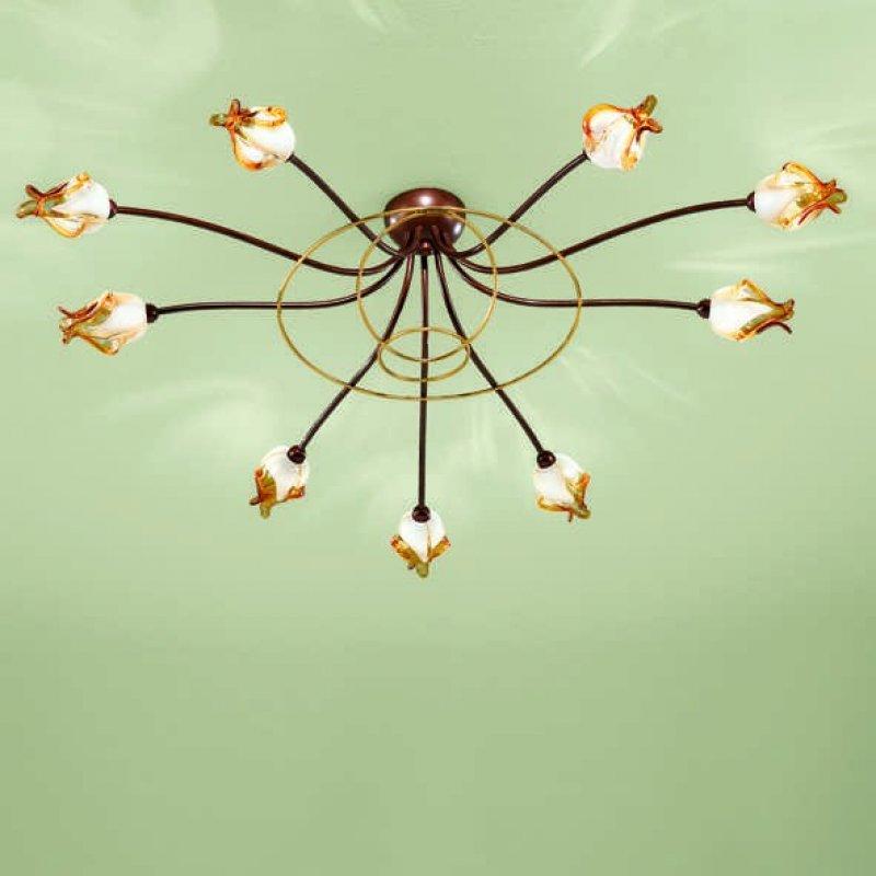 Plafonnier COMO - 9 lampen rond