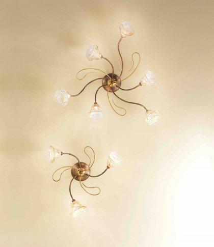 Huis Maison Bogaert Plafonnier ROMA - 6 lampen - rond